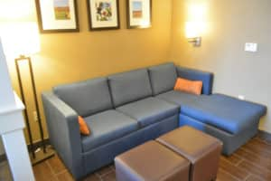 Comfort Suites Amish Country suite seating area